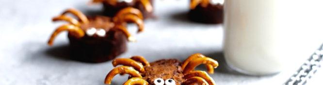 Halloween Brownie Spiders